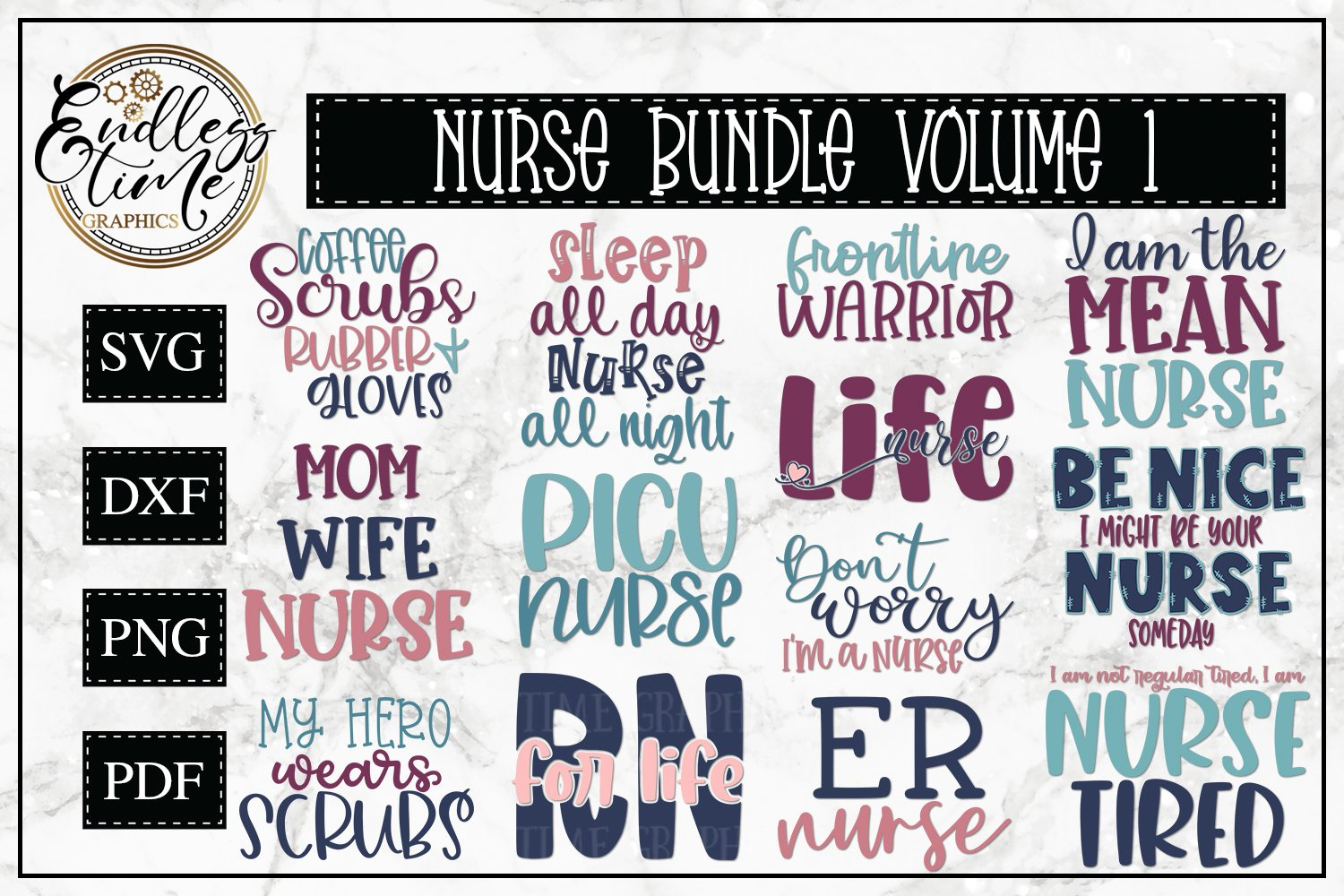 Nurse SVG Bundle - An SVG Bundle for our Frontline Warriors example image 1