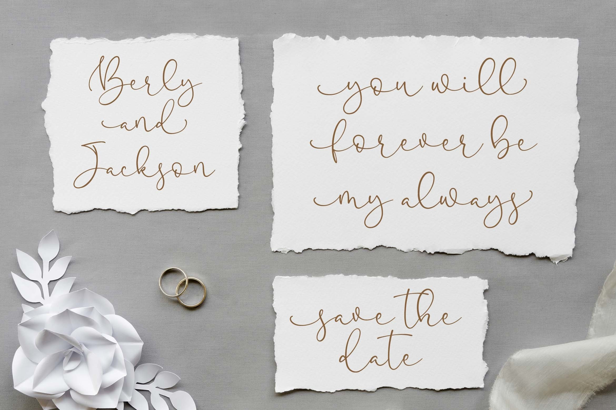 Pretty Yellow Beauty Calligraphy Font example image 2