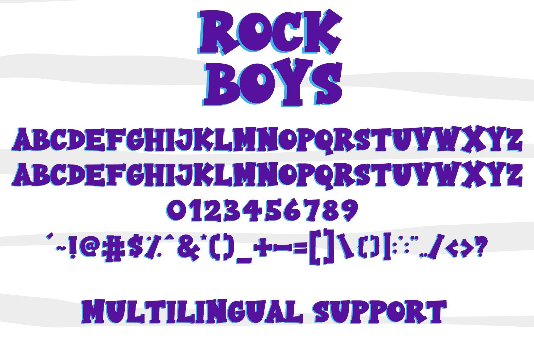 Rock Boys example image 4