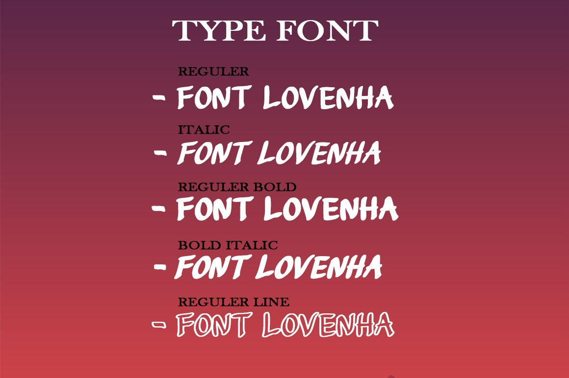 Lovenha - Font example image 2