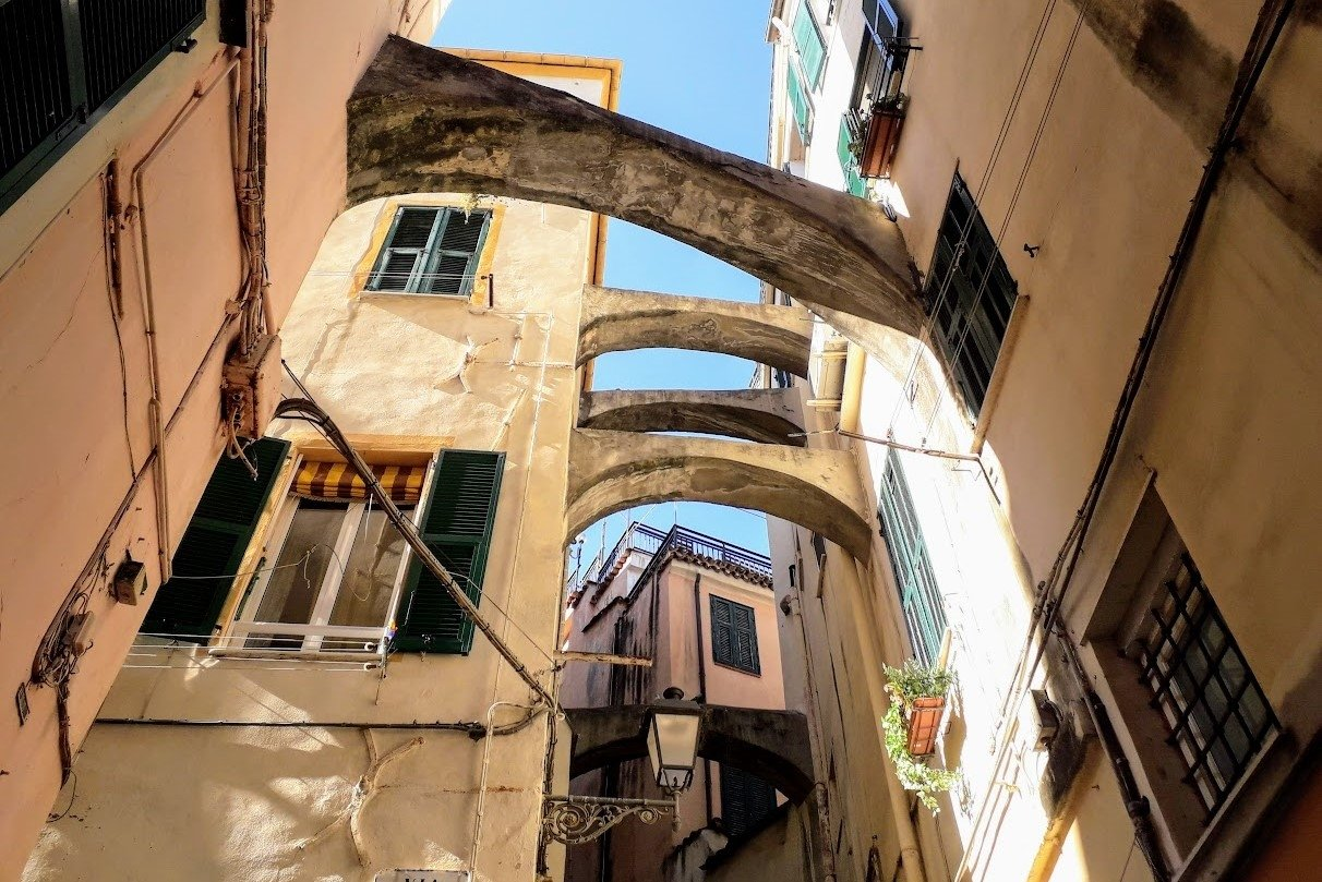 Architecture Photography Old town Sanremo Italy example image 1