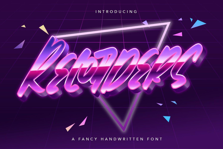 Recorders - Fancy Handwritten Font example image 1