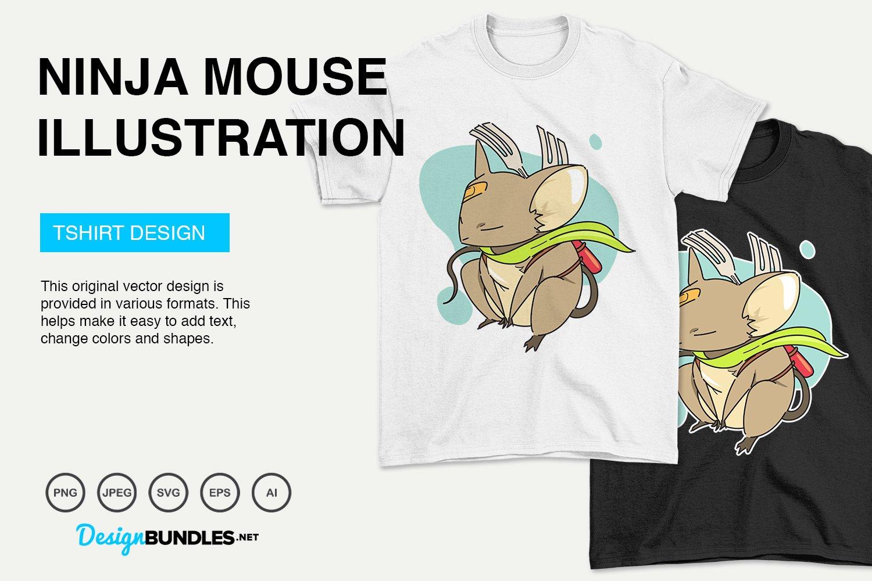 Ninja Mouse Vector Illustration example image 4