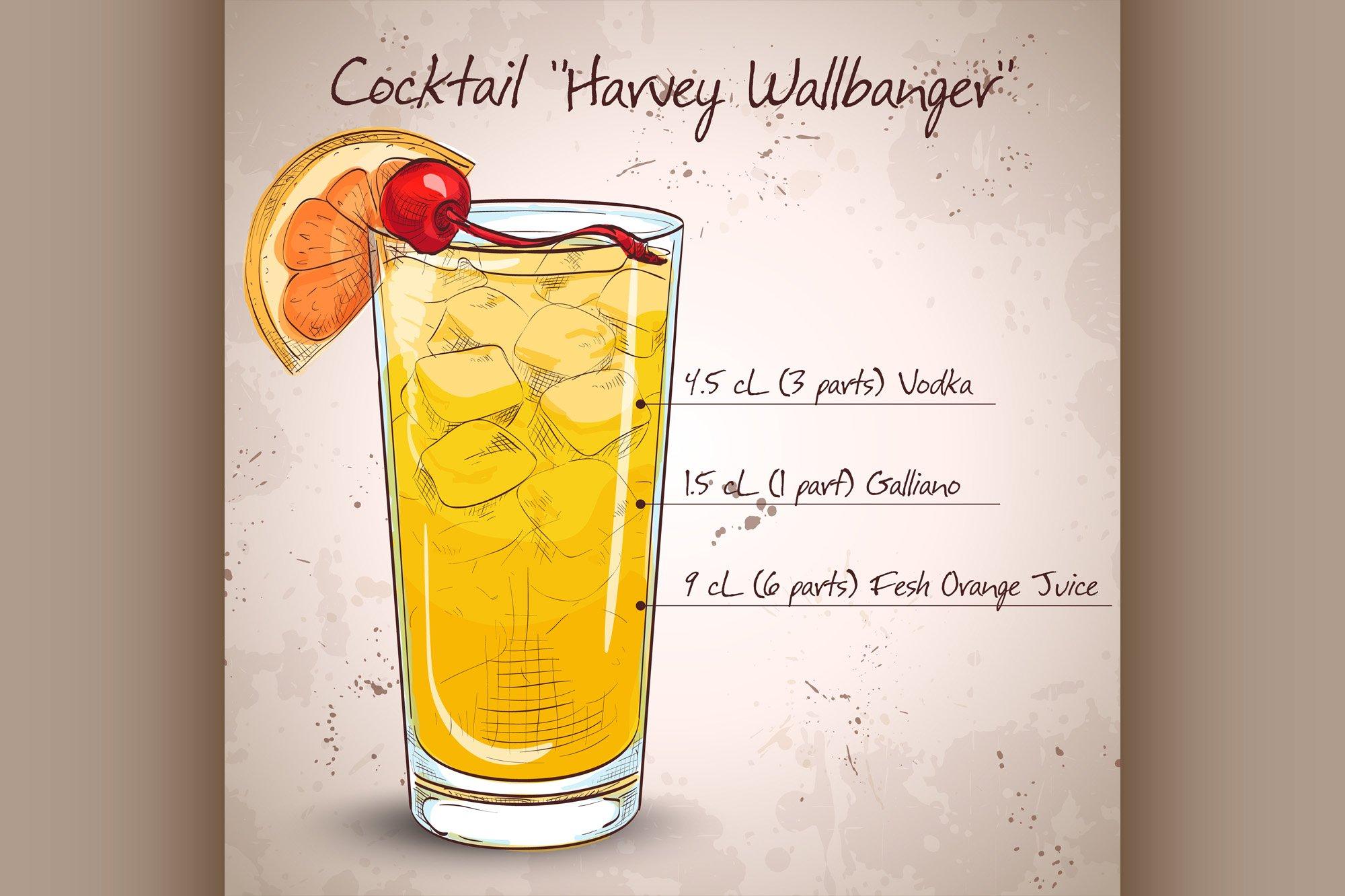 Cocktail Harvey Wallbanger example image 1