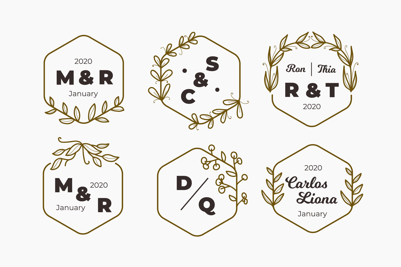 Wedding Monogram Logos Template Collection example image 1