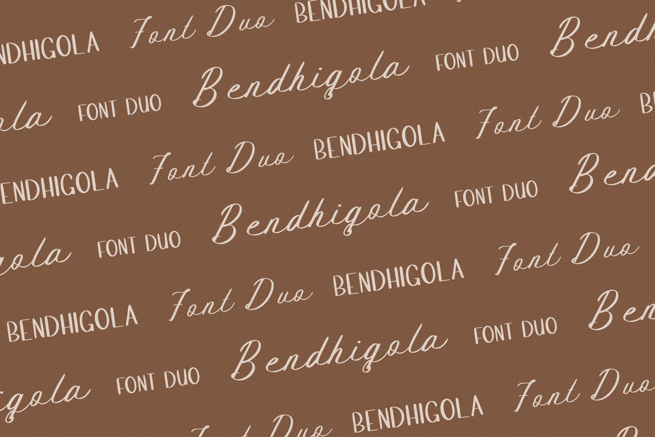 Bendhigola - Handwritten Font Duo example image 10
