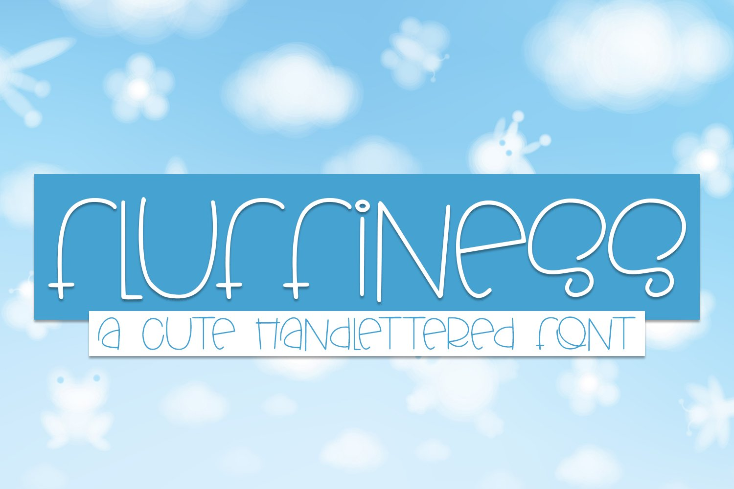 Fluffiness - A Cute Hand-lettered Font example image 1