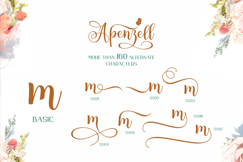 Apenzell Script | free wedding monogram logo example image 8