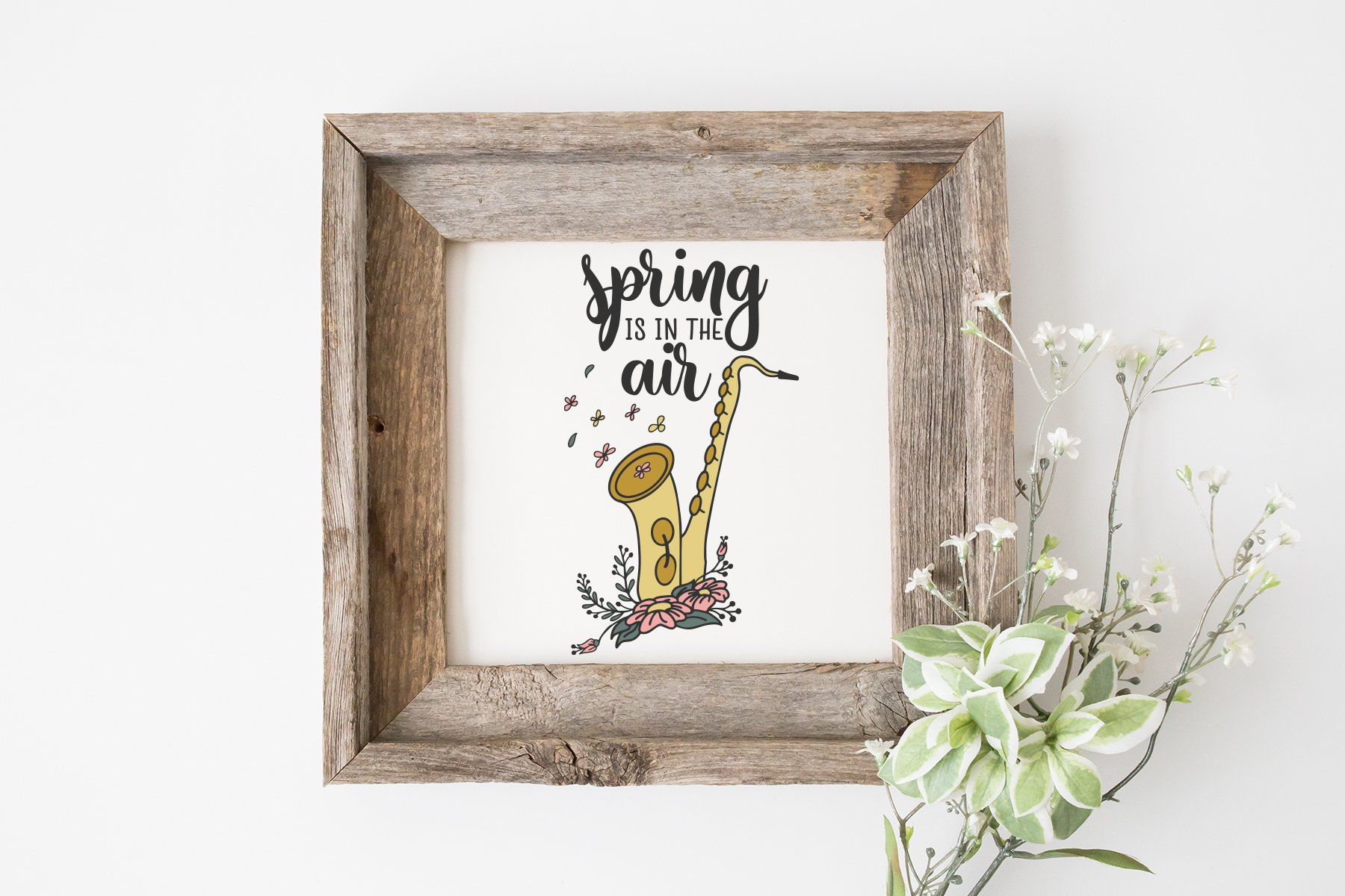 Saxophone SVG | Spring is in the Air SVG | Microphone SVG example image 2