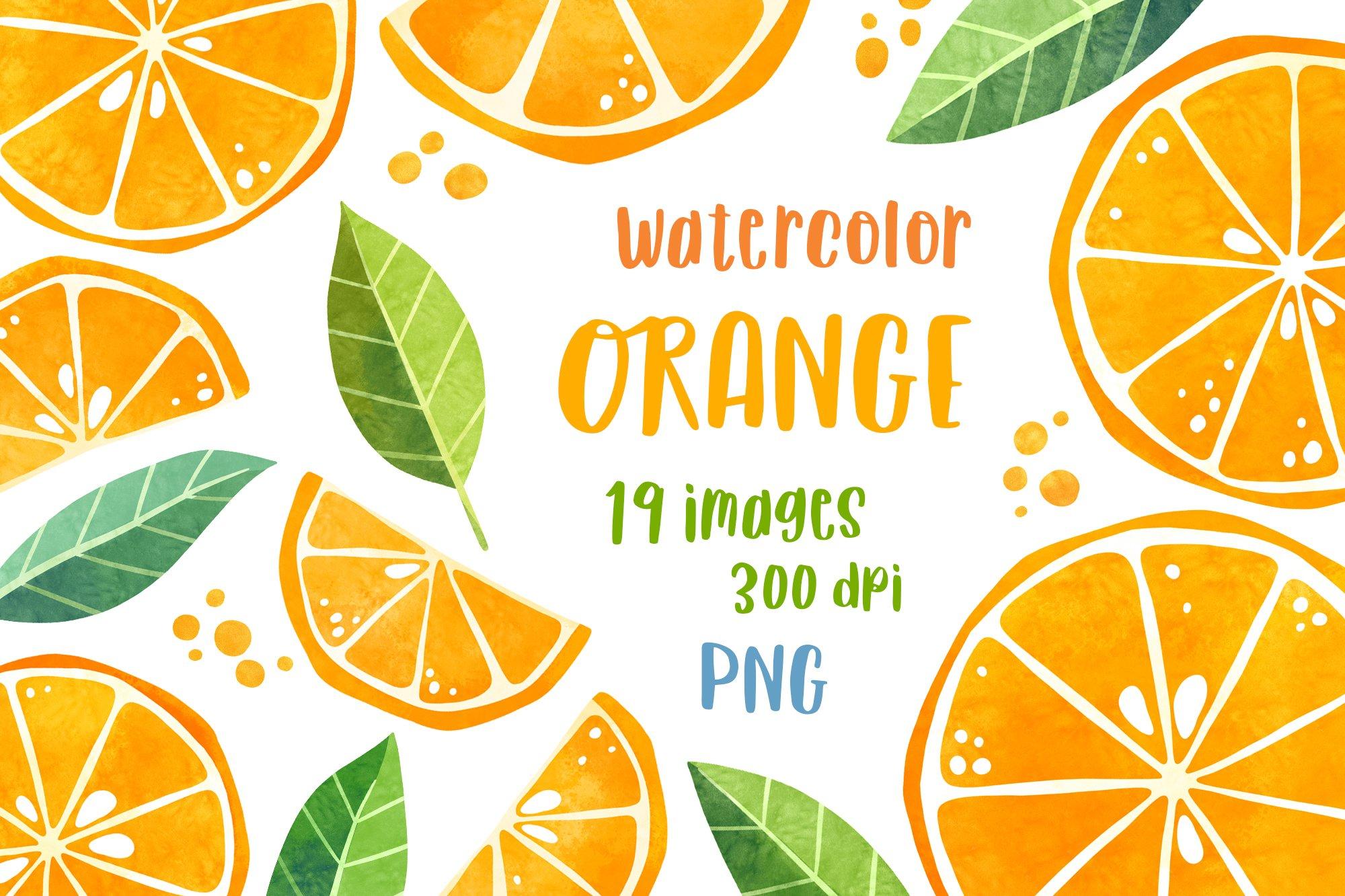 Citrus fruit clipart Watercolor food clip art Summer clipart