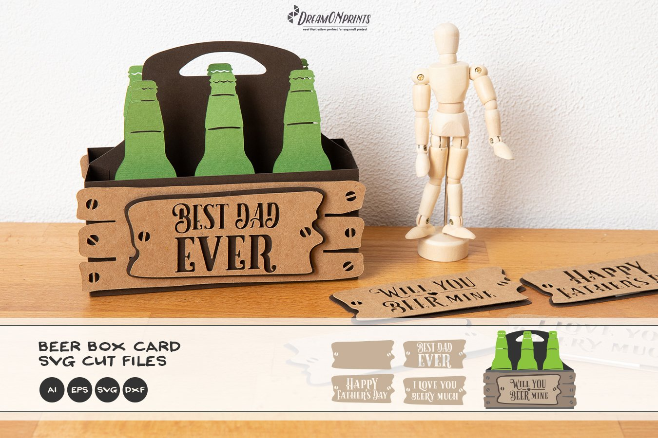 Free Full details and link to list of winners here father's day svg bundle. 3d Beer Greeting Card Svg Father S Day Svg Box Card Svg 1175076 Paper Cutting Design Bundles SVG, PNG, EPS, DXF File