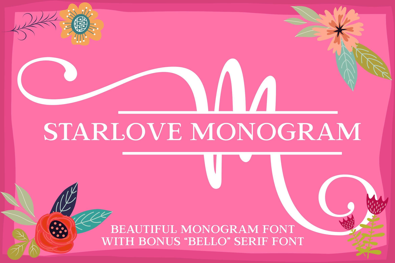 Starlove Monogram Font & Bonus Serif Font example image 1