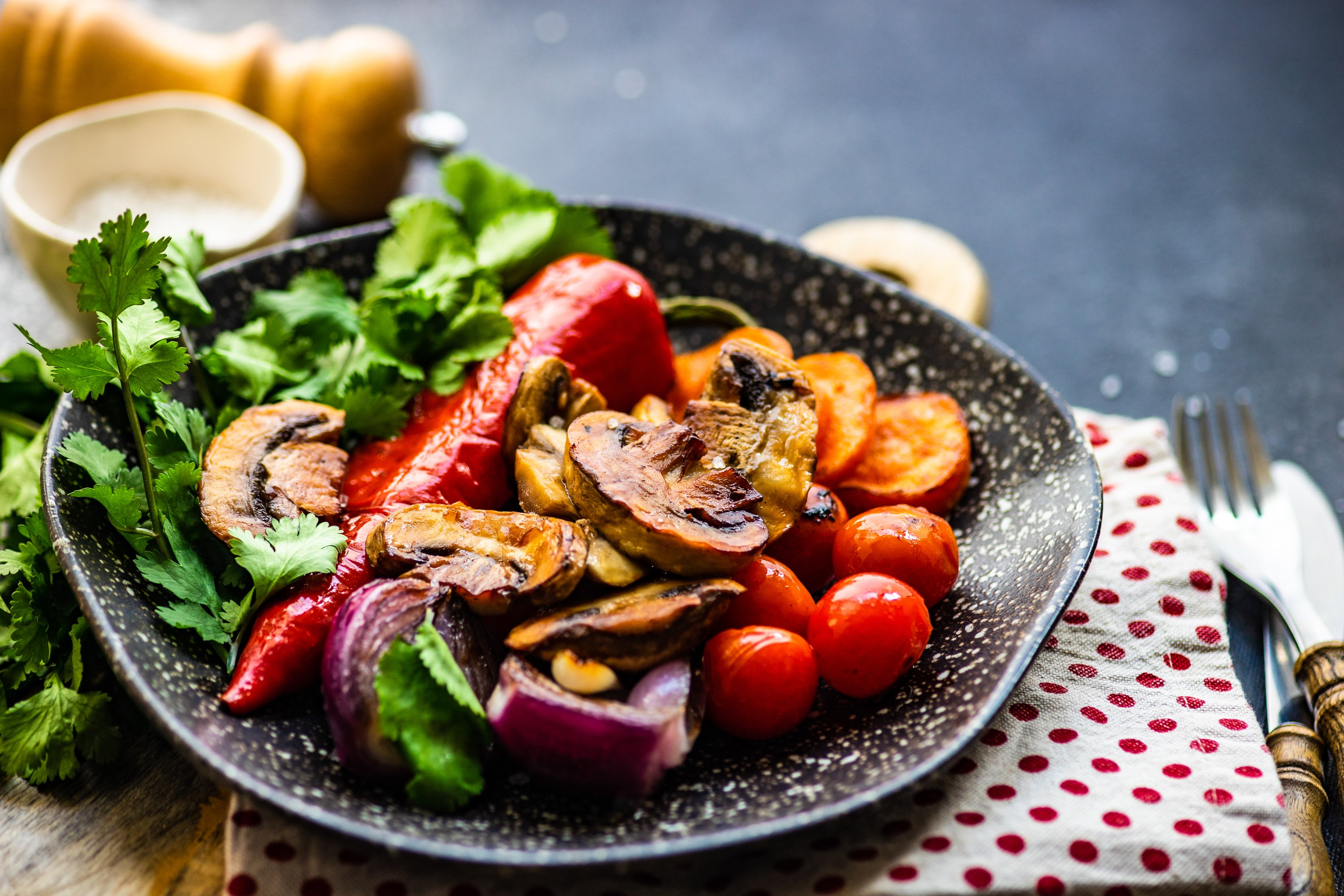 Healthy food concept with organic grilled vegetables example image 1