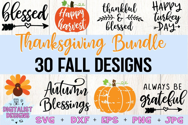 Thanksgiving Svg Bundle 30 Designs 155608 Cut Files Design Bundles