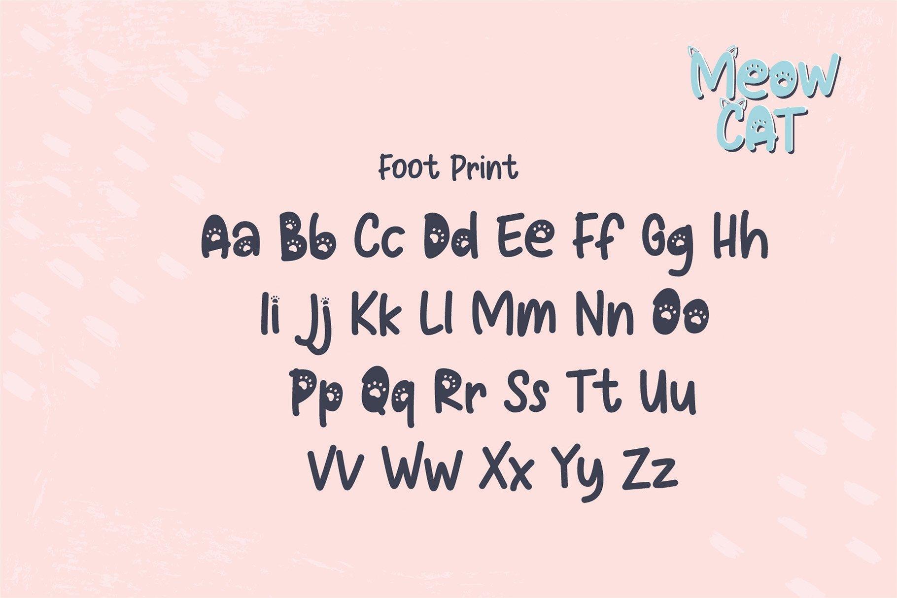 Cat Meow - 3 Font Plus Bonus Clip Arts example image 7
