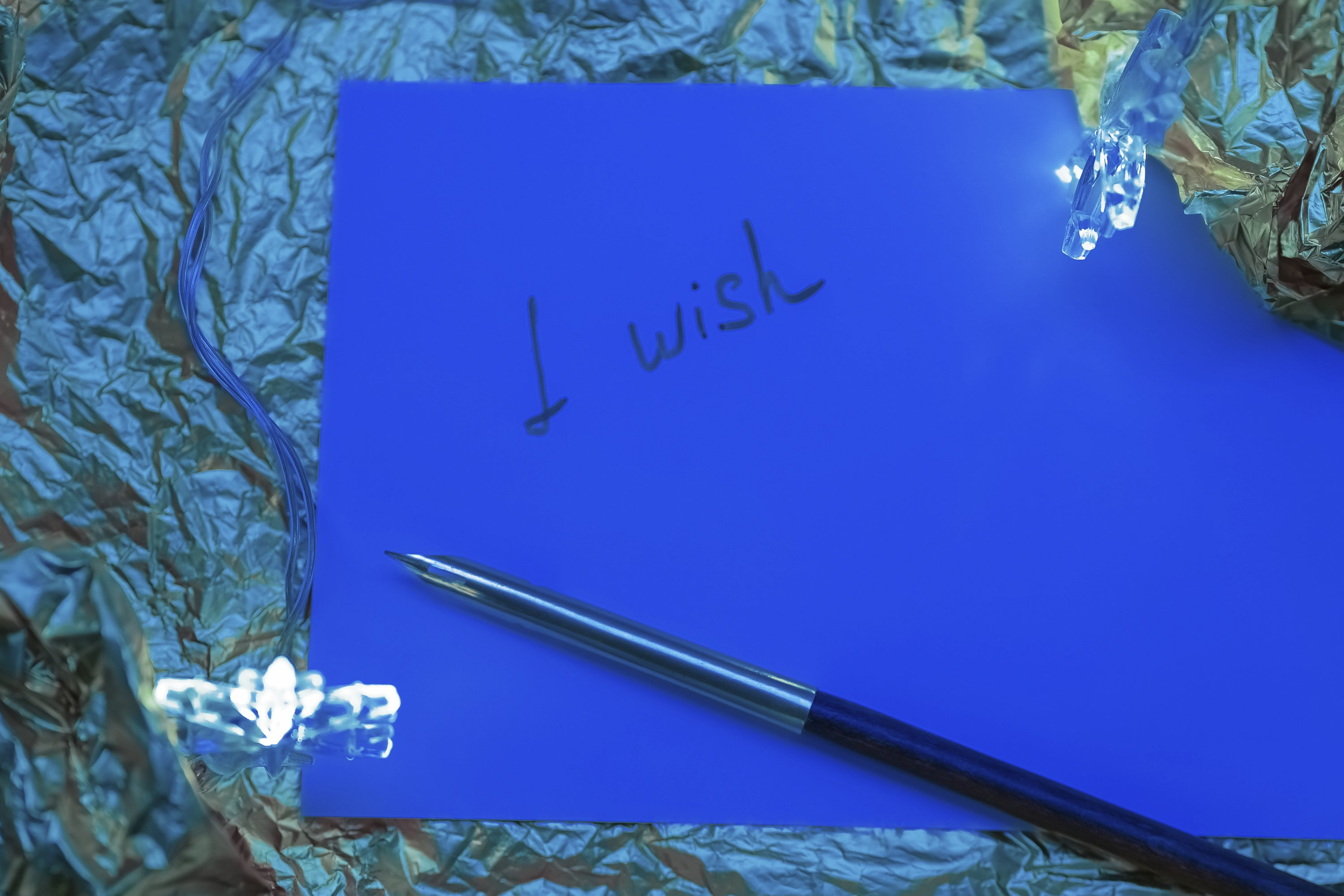 Christmas postcard composition, the wish lettering example image 1