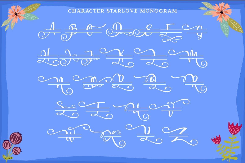 Starlove Monogram Font & Bonus Serif Font example image 6