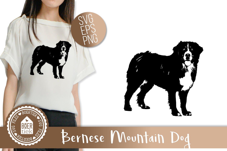 Zentangle Bernese Mountain Dog SVG File