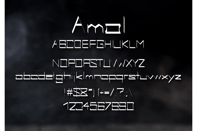 Amal Gothic Font example image 2