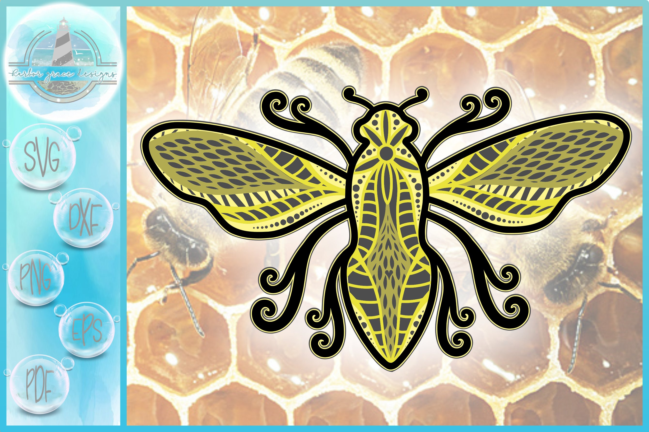 Download 3d Svg Layered Design 3d Bee Mandala 3d Mandala Svg 538583 Cut Files Design Bundles