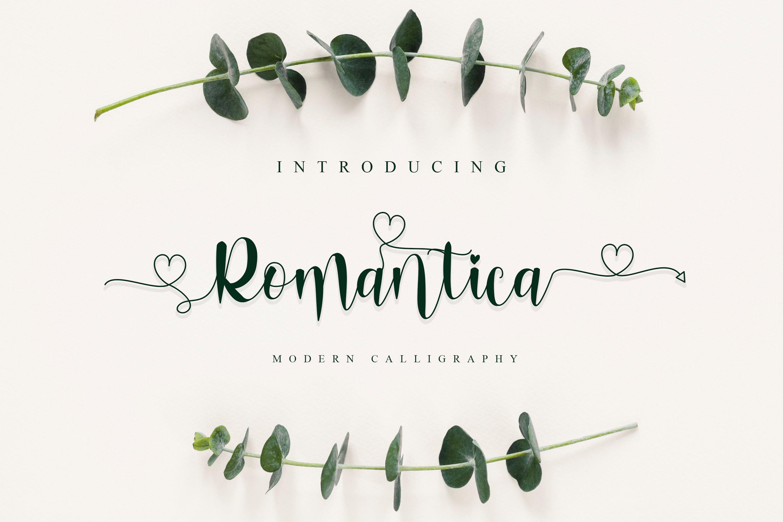 Romantica Font Signature example image 1