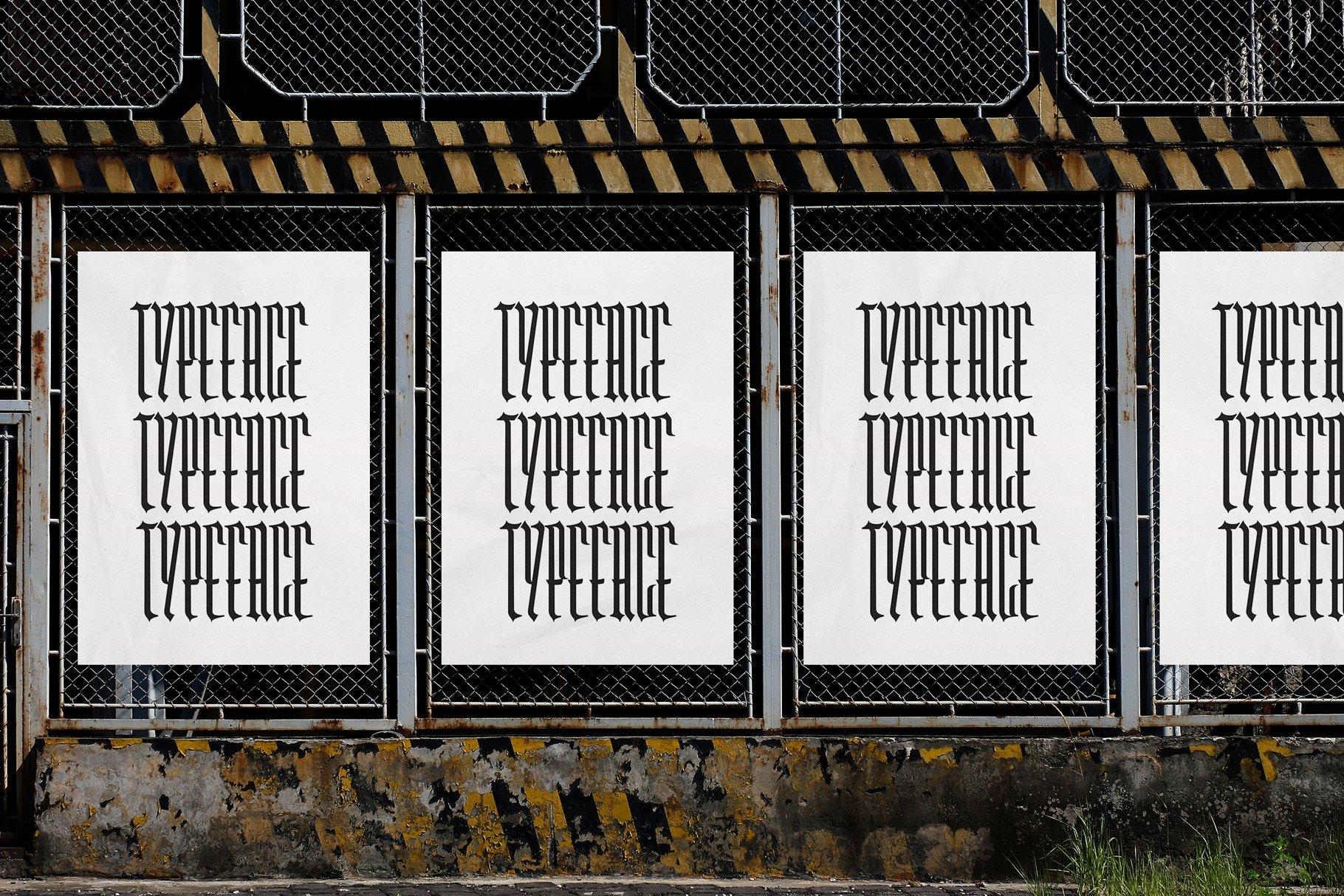 Washboard typeface example image 3