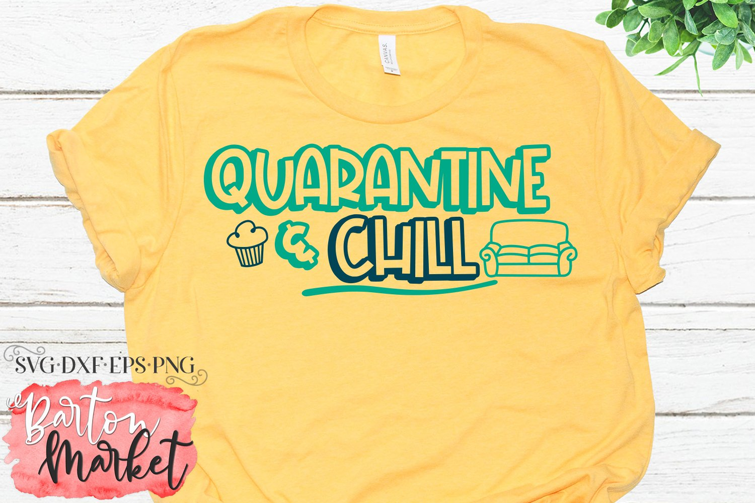 Quarantine & Chill SVG DXF EPS PNG example image 2