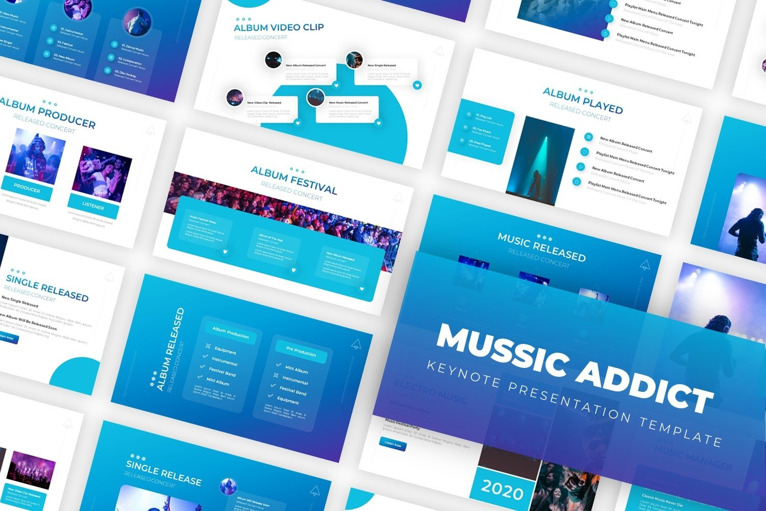 Music Addict - Keynote Template example image 1
