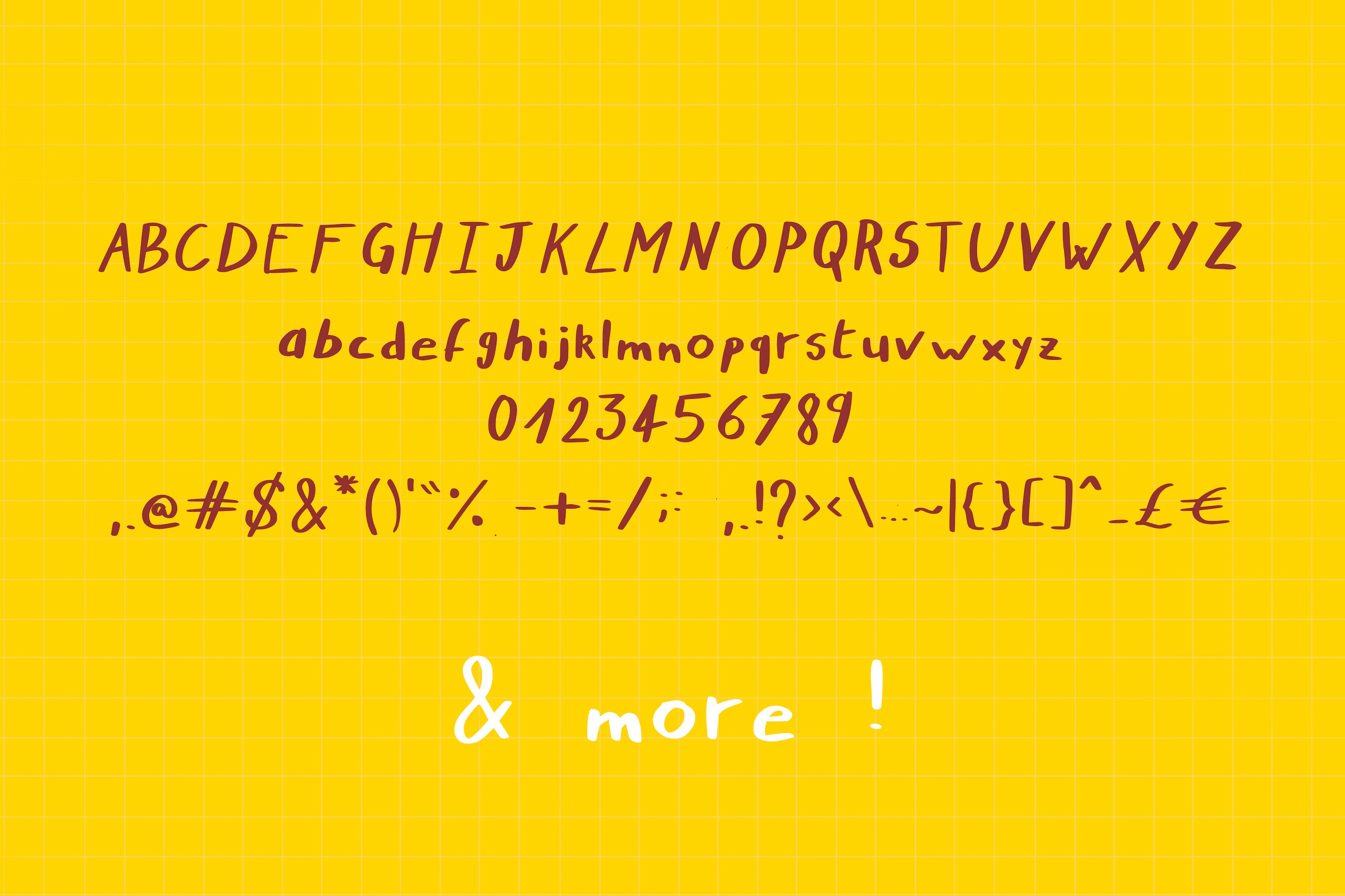 Nymera - A nice and bold handwritten script font ! example image 2