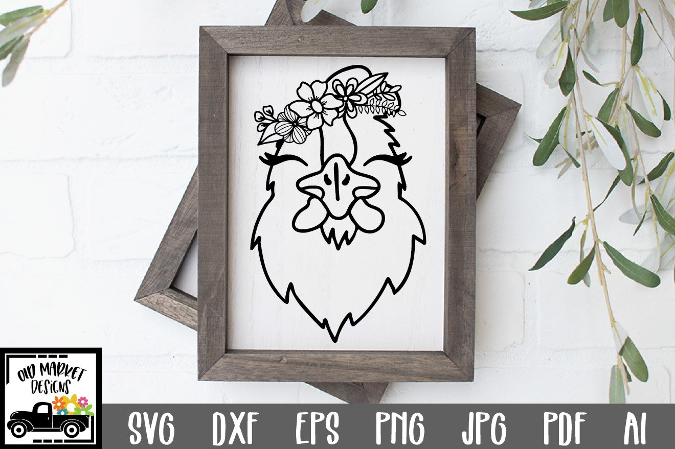 Chicken SVG File - Chicken Face SVG Cut File example image 1