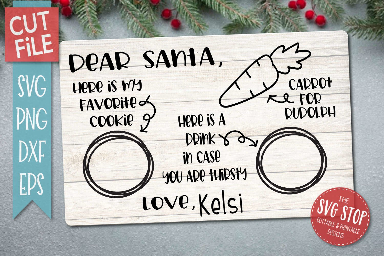 Dear Santa Tray Cookies For Santa Svg Png Dxf Eps 386885 Svgs Design Bundles