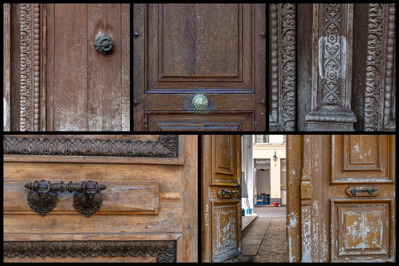 Paris door wall art set of 24 photos. Vintage wooden doors example image 3