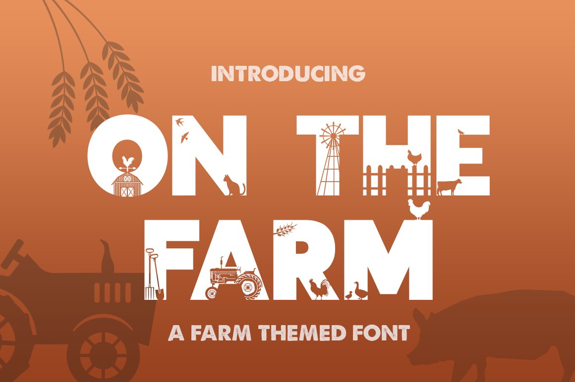 On the Farm Font example image 1