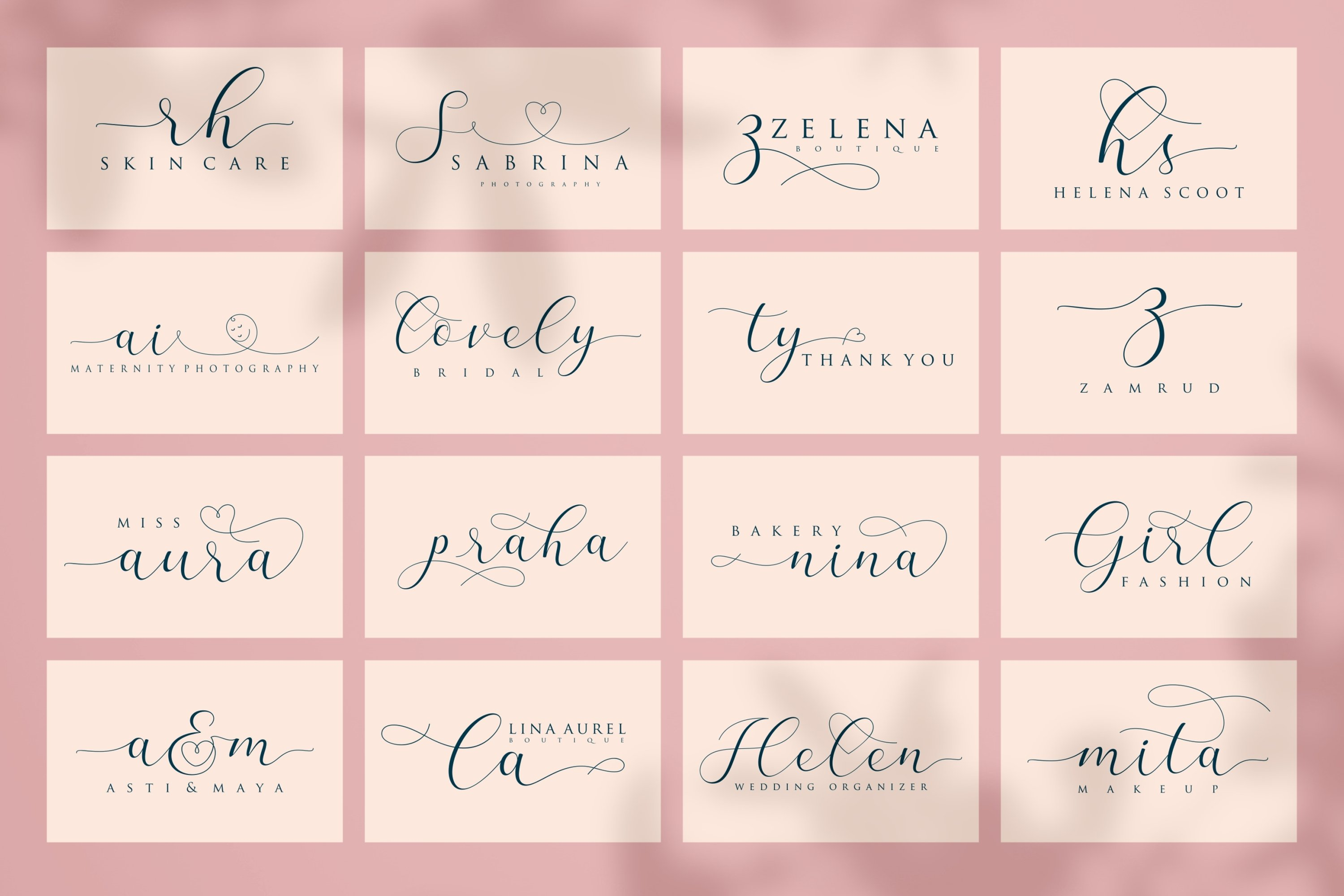 Praha - lovely clean modern calligraphy font example image 7