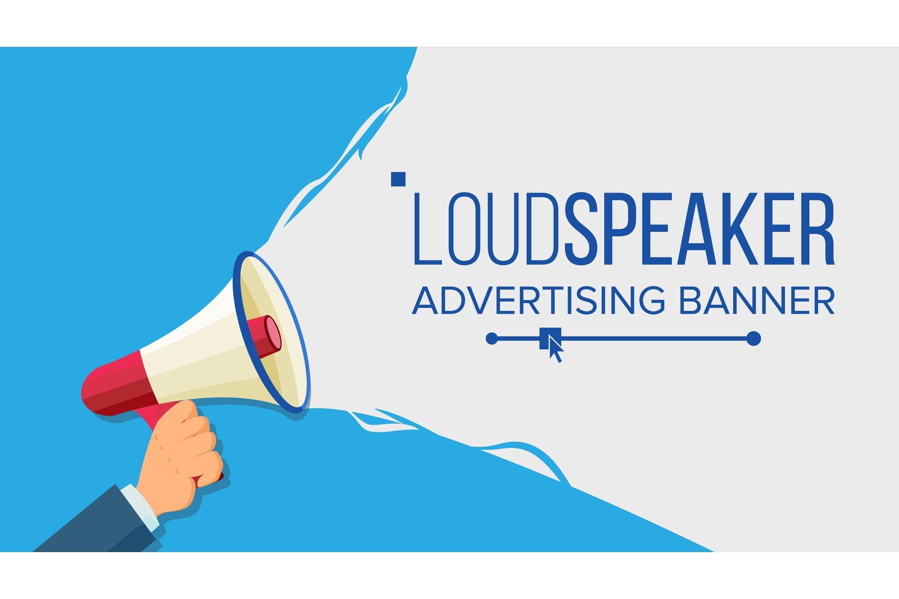 Loudspeaker In Hand Vector. Marketing Sign example image 1