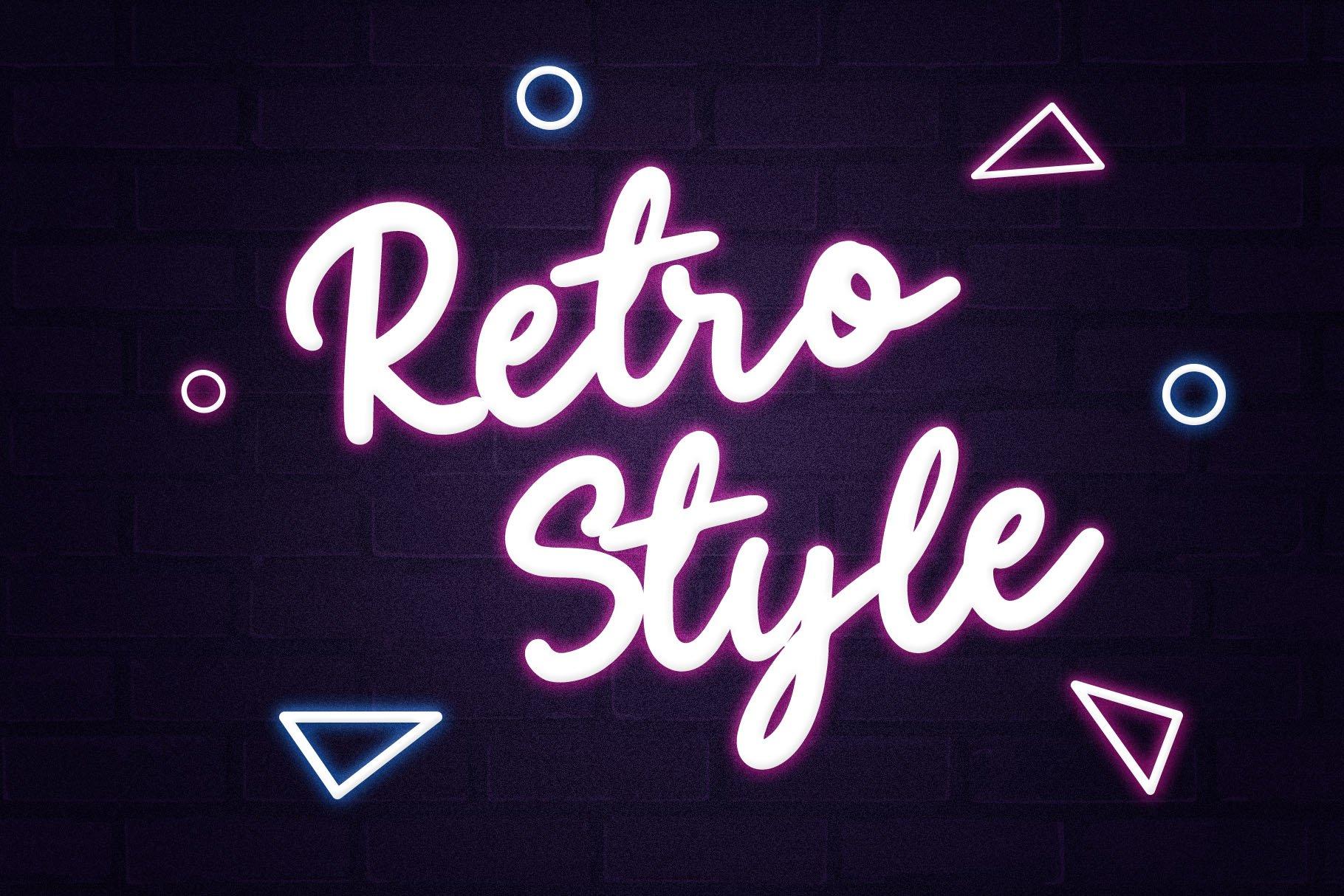 Eighties - Retro Script Font example image 2