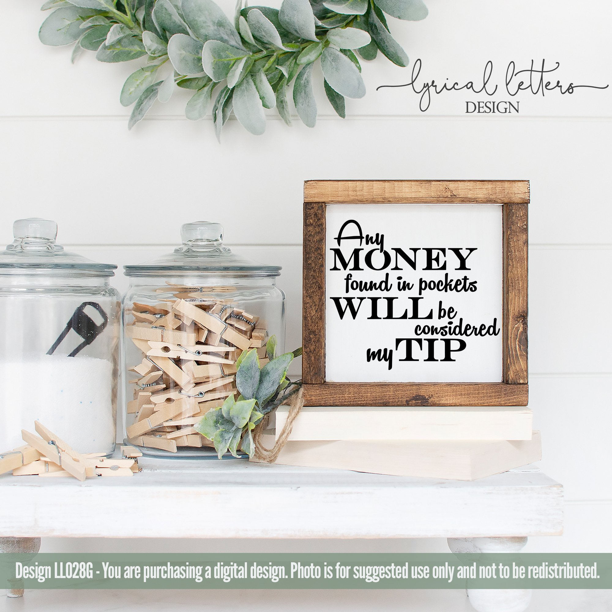 Download Money Found Will Be My Tip Laundry SVG Cut File LL028G ...