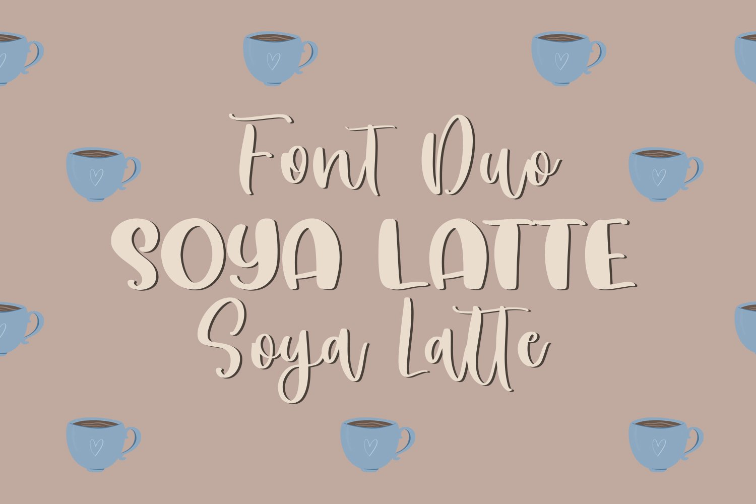Soya Latte Font Duo example image 1