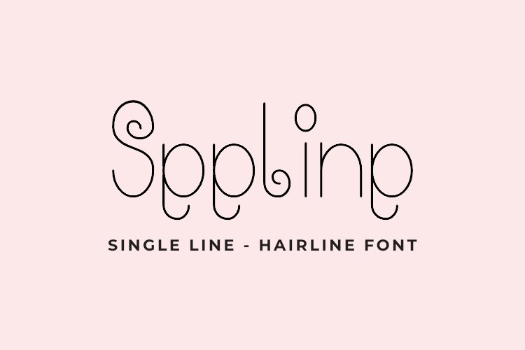 Seeline - Single Line - Hair Line Font example image 1