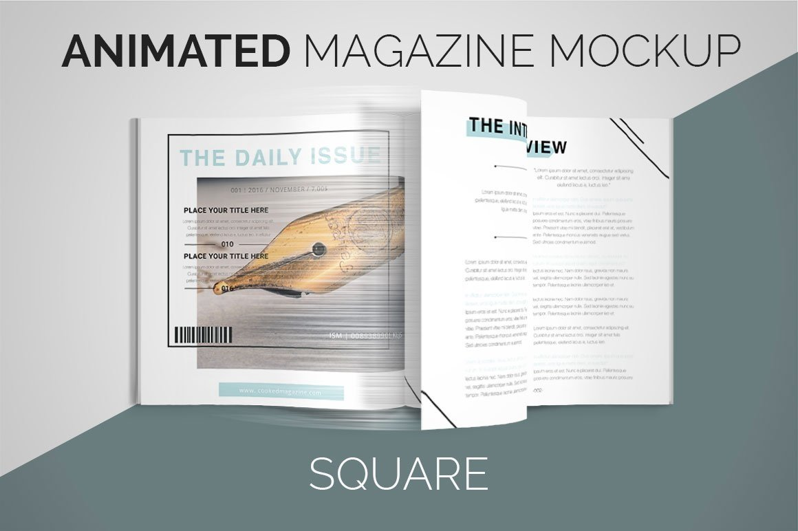 Animated Magazine Mockup | Square example image 1
