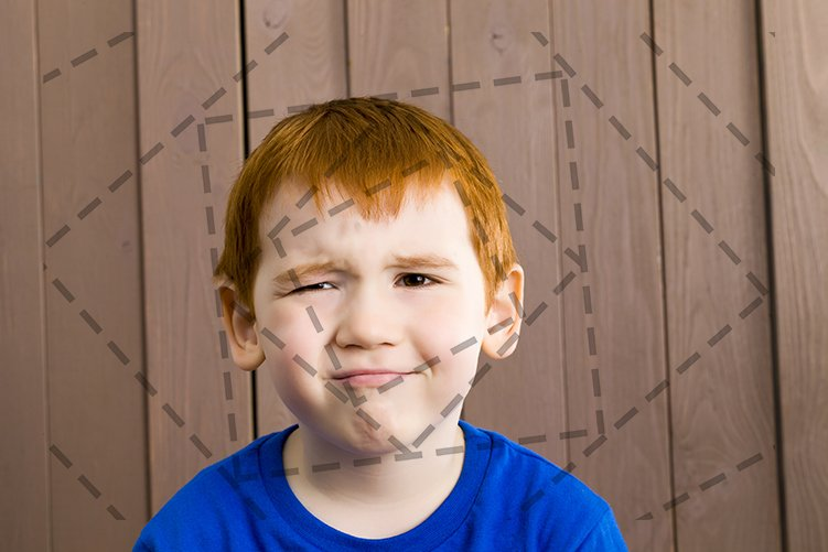 the boy is frowning example image 1