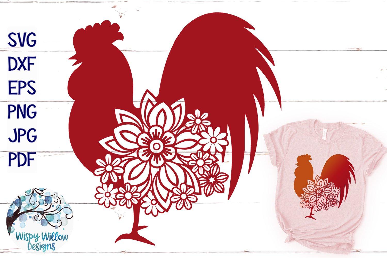 Floral Rooster Svg Floral Chicken Svg Farm Animal Svg 302646 Svgs Design Bundles