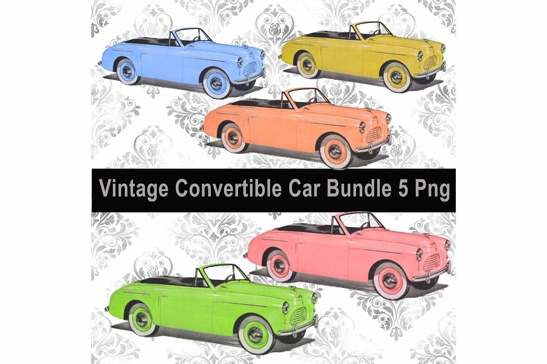 Download Vintage Convertible Car Bundle Clip Art Sublimation Png 297405 Sublimation Design Bundles
