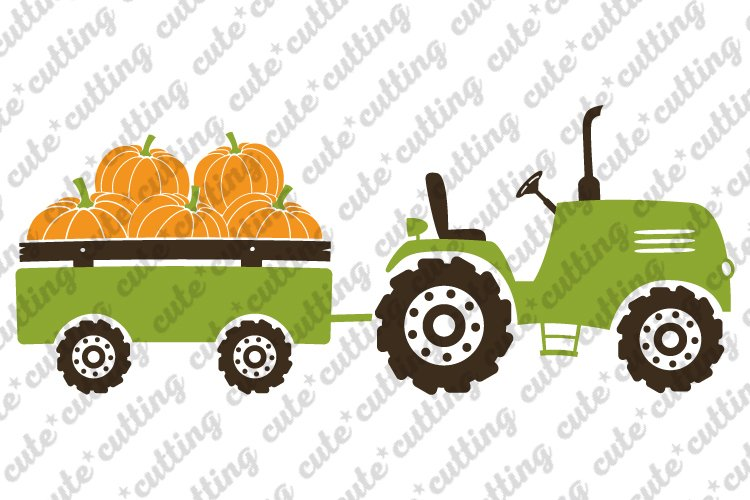 50+ Pumpkin Delivery Tractor Files SVG