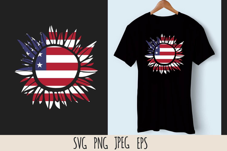 Patriotic sunflower SVG cut file bundle example image 4