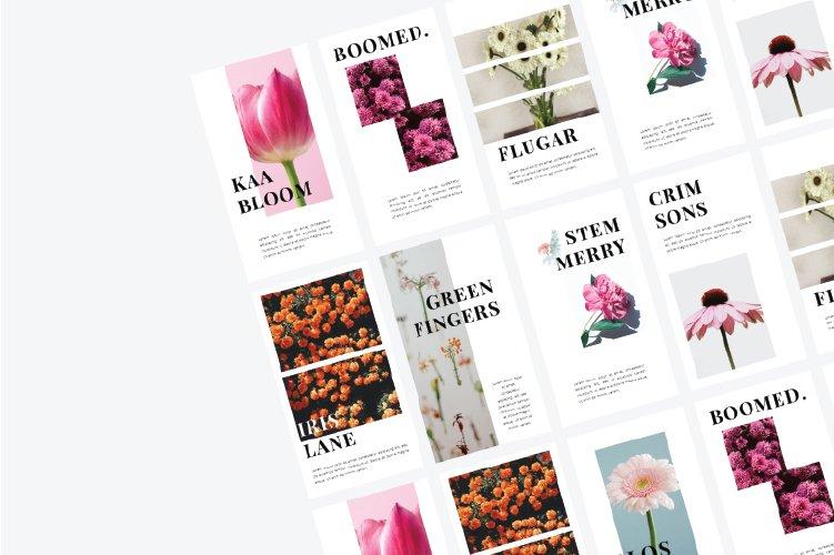 Flowers Instagram Template & Instagram Stories example image 3