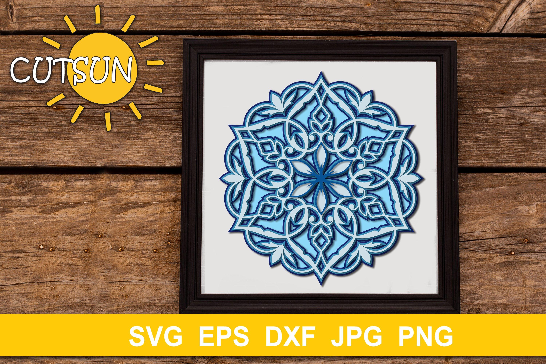 Download Mandala SVG   Layered Mandala SVG cut file 5 layers ...