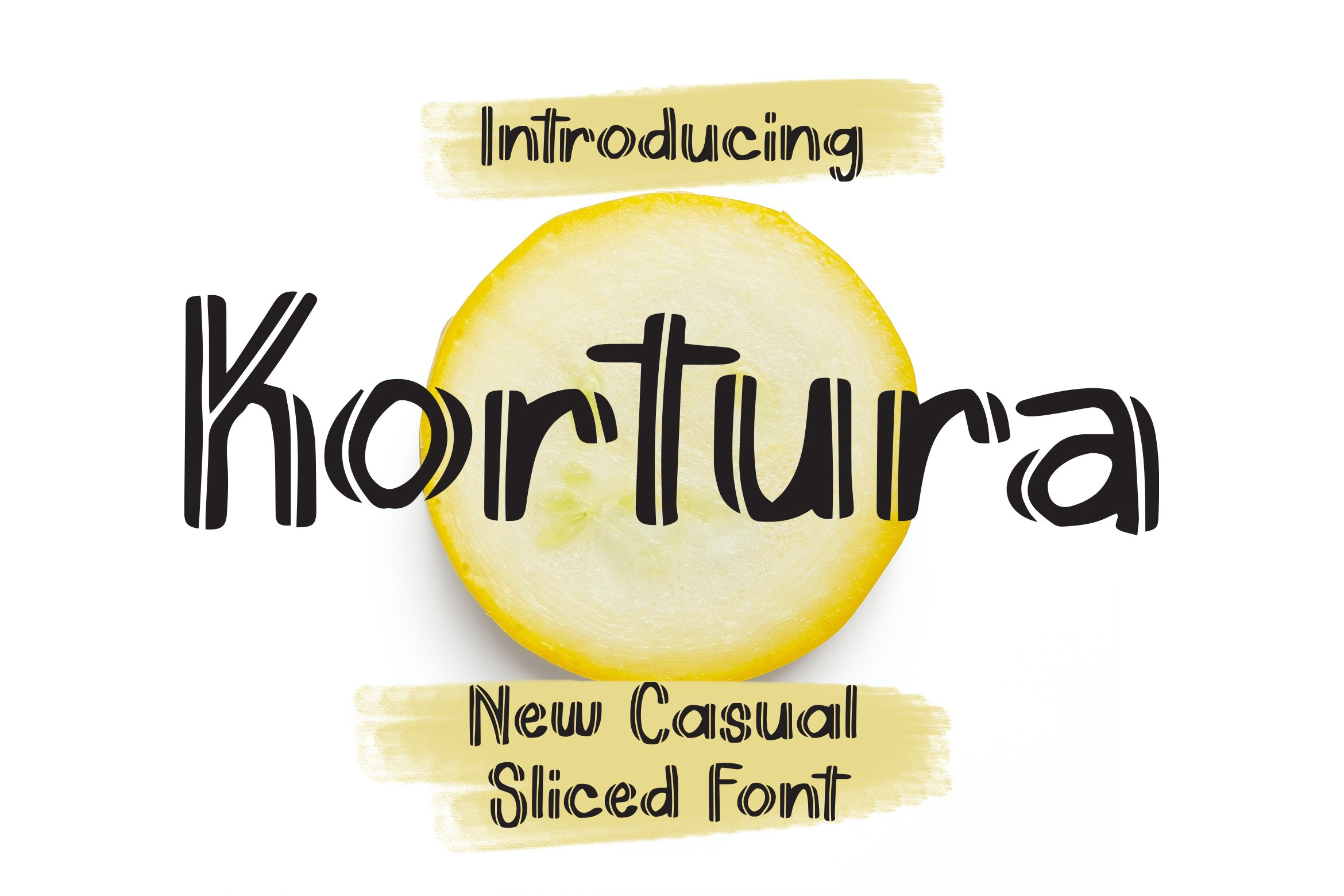 Kortura - Casual Sliced Font example image 1