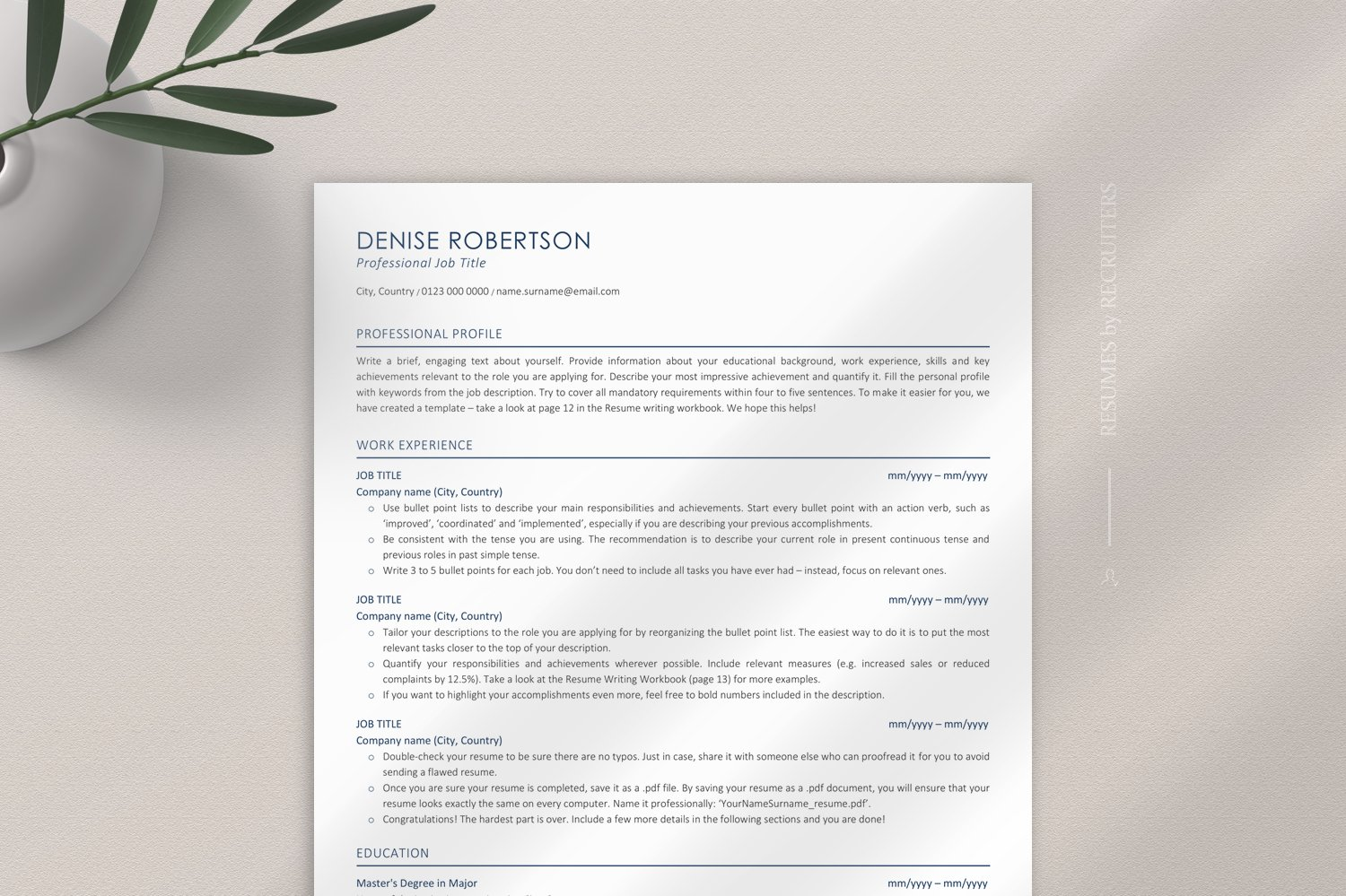 Ats Friendly Resume Template Ats Optimized Executive Cv 537691 Resume Templates Design Bundles