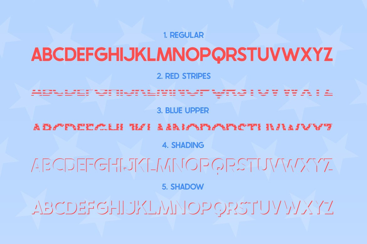 The USA Font Family example image 3